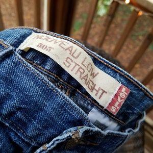 Levi's Nouveau Low Straight 505 Jeans Size 8M